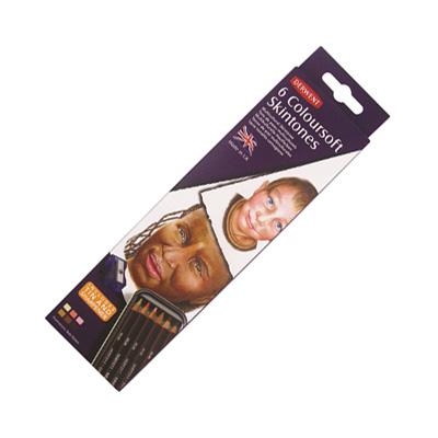 Derwent Coloursoft Pencil Tin of 6 Skintones
