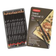 Derwent Tinted Charcoal Pencil Tin of 12