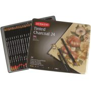 Derwent Tinted Charcoal Pencil Tin of 24