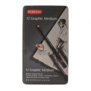 Derwent Graphic Pencil - Tin of 12 Medium (Designer)