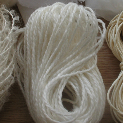 Rug wool yarn - undyed