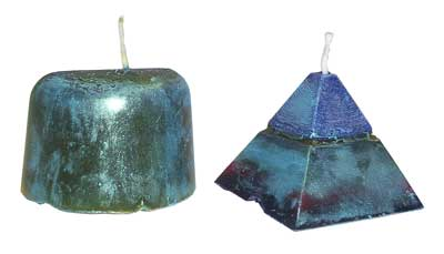 Jacquard Pearl Ex Pigments on candles