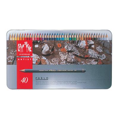 Caran d'Ache Pablo Colour Pencil Tin 40