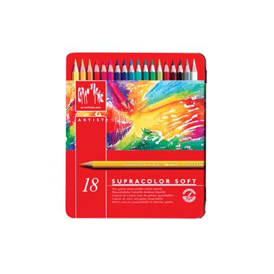 Caran d'Ache Supracolor Watercolour Pencil Tin 18