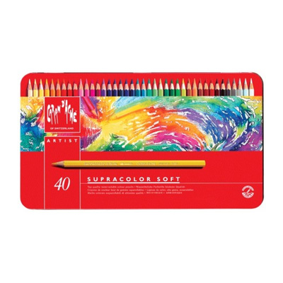 Caran d'Ache Supracolor Watercolour Pencil Tin 40