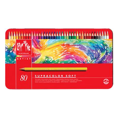 Caran d'Ache Supracolor Watercolour Pencil Tin 80