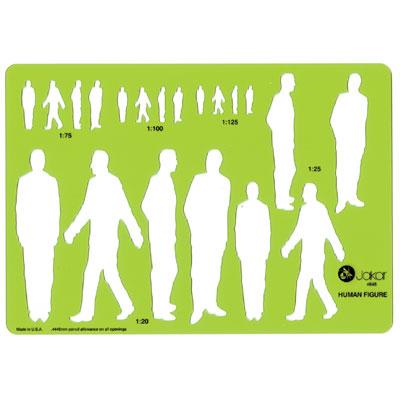 Male Human Figure Template 212 x 148mm
