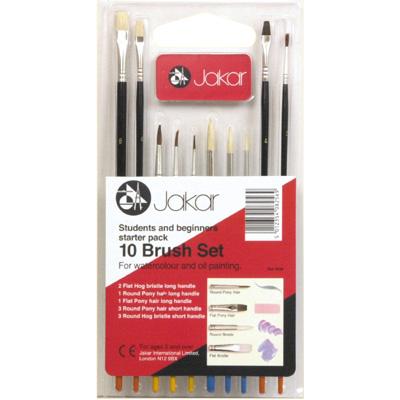 Brush Set - 10 piece assorted sizes