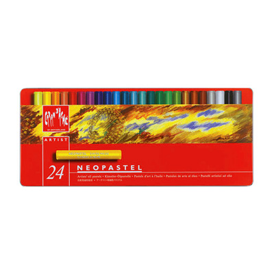 Caran d'Ache Neopastel Oil Pastels Metal Tin 24