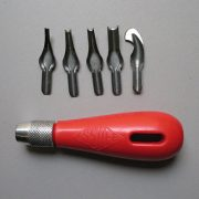 Essdee Lino Cutting Set - Handle and 5 cutters