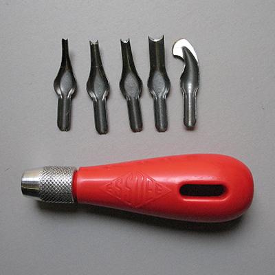 Essdee Lino Cutting Set - Handle and 5 cutters