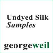 Undyed Silk Fibres Sample Card