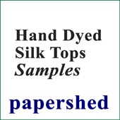 Sample Card - Hand-dyed Silk Tops