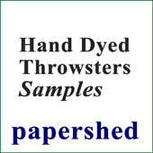Sample Card - Hand-dyed Silk Throwsters Waste