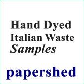 Sample Card - Hand-dyed Silk Italian Waste