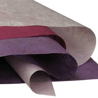 Coloured Mulberry Paper Samples