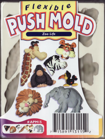 Sculpey Mould - Zoo Life