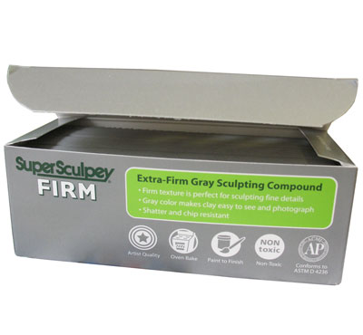 Super Sculpey Firm Grey 454g