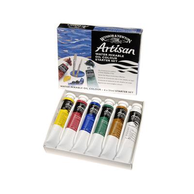 Artisan Water Mixable Oil Colour 6 x 21ml Starter Set