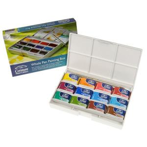 Cotman Water Colour Whole Pan Painting Box 12 Pans