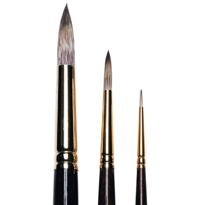 Monarch Round Brushes, long handle