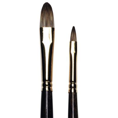 Monarch Short Filbert Brushes, long handle