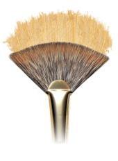 Monarch Fan Brushes, long handle