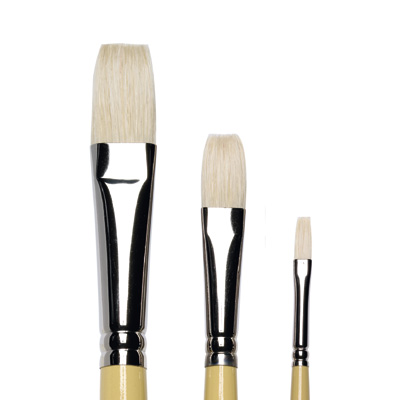 Artists Hog Brushes Long Flat, long handle