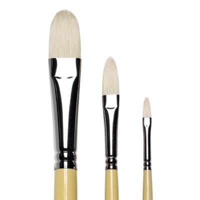 Artists Hog Brushes Filbert, long handle