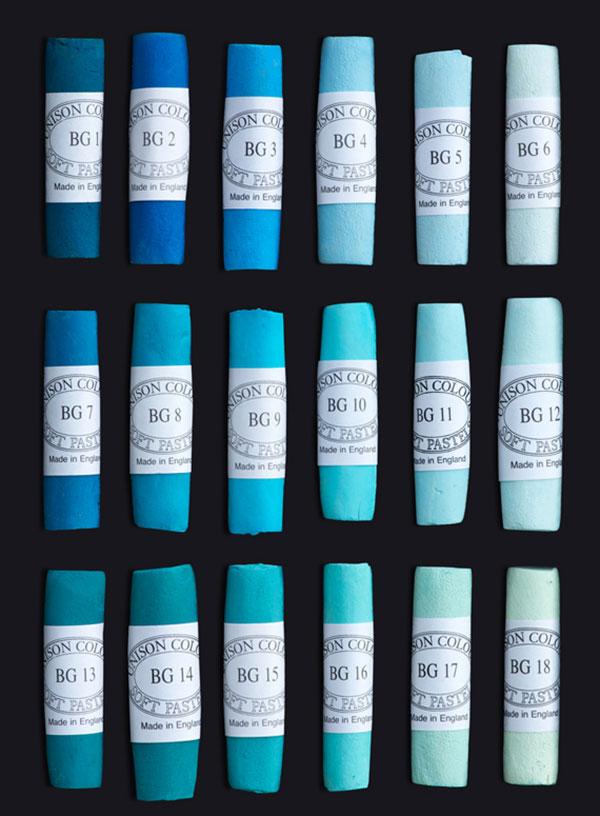 Unison Colour Soft Pastels - Blue Green Colours
