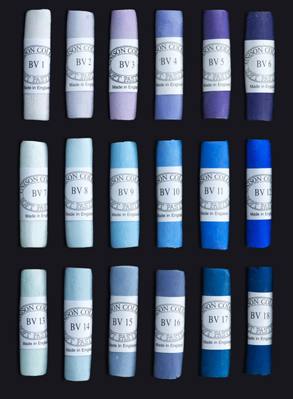 Unison Colour Soft Pastels - Blue Violet Colours