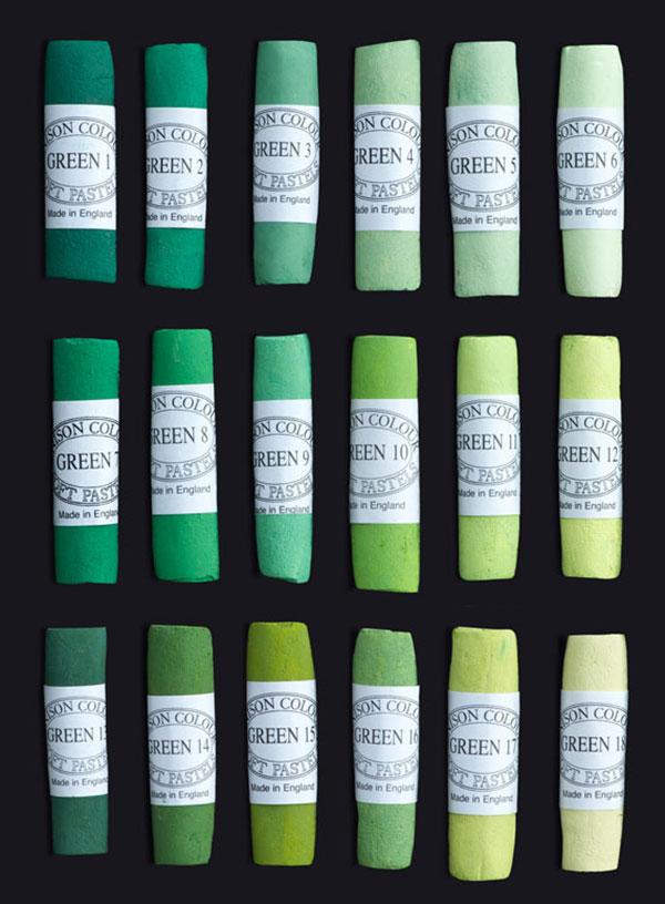 Unison Colour Soft Pastels - Green Colours