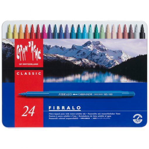 Caran d'Ache Fibralo Fibre Tipped Pens Tin 24