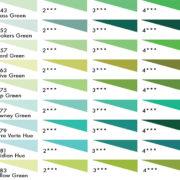Daler Rowney Soft Pastels - Greens