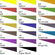 Fibrecrafts Heat Transfer Paint Colours
