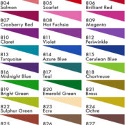 Jacquard Dye-Na-Flow colour chart
