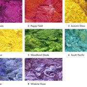 Italian Silk Waste, assorted colours