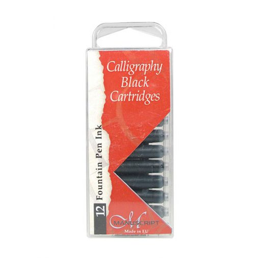 Manuscript Calligraphy Ink Cartridges 12 Black