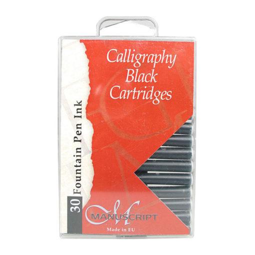 Manuscript Calligraphy Ink Cartridges 30 Black