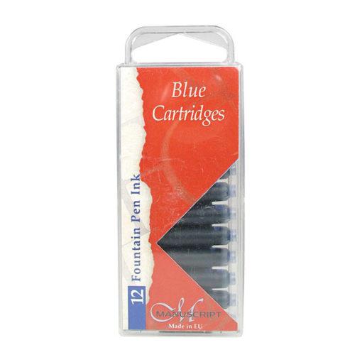 Manuscript Calligraphy Ink Cartridges 12 Blue