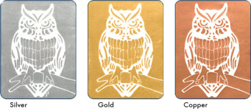 Block Printing Inks Gold Silver and Copper