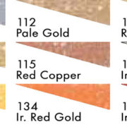 Sennelier Oil Pastels, Iridescent Colour Chart