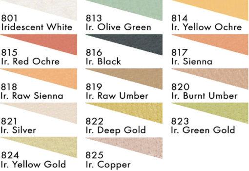 Sennelier Soft Pastel Iridescent Colour Chart