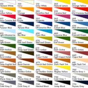 Stabilo Carbothello Pastel Pencil Colour Chart