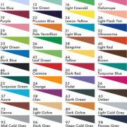 Stabilo Pen 68 colour chart