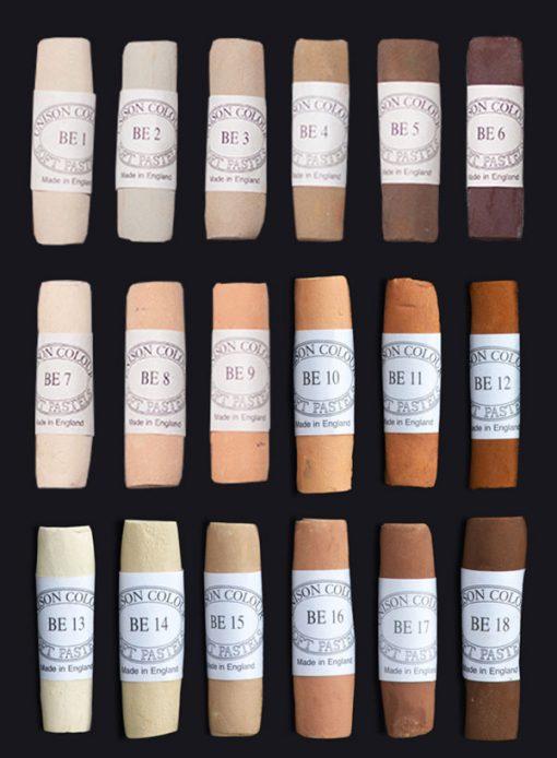 Unison Colour Soft Pastels - Brown Earth Colours
