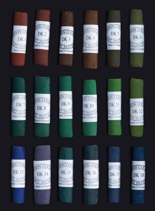 Unison Colour Soft Pastels - Dark Colours