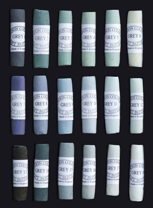 Unison Colour Soft Pastels - Grey Colours