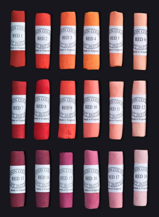 Unison Colour Soft Pastels - Red Colours