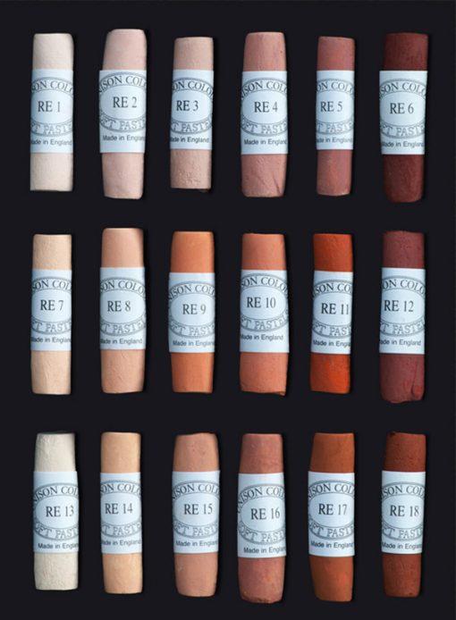 Unison Colour Soft Pastels - Red Earth Colours